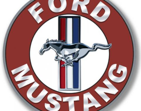 Ford Mustang Disc Tin Sign, 24 Gauge Steel, 12""