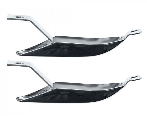 Scott Drake 1967-1968 Ford Mustang Rear Bumper Guards (Chrome) C7ZZ-17984-CR