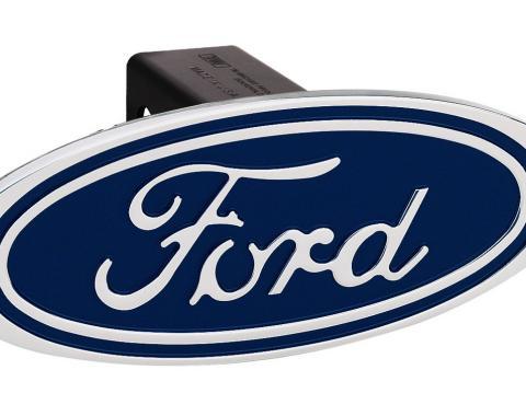 DefenderWorx Ford F-150 Hitch Cover Blue Image Line 2 Inch Billet 06000