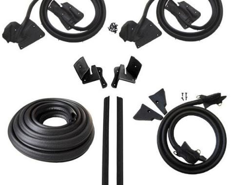 Lincoln Mark V 2 Door Coupe Body Weatherstrip Seal Kit, 1977-1979