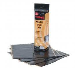 "HushMat Multi Use Kit - Stealth Black Foil with Self-Adhesive Butyl-4 Sheets 12"" x 11"" ea 3.7 sq ft 10150"