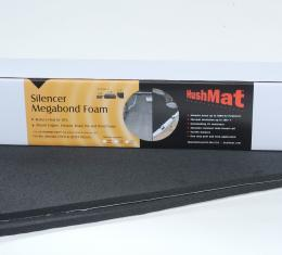 "HushMat Under Carpet Floor Kit - 1/ 2"" Silencer Megabond Thermal Insulating and Sound Absorbing Self-Adhesive Foam-2 Sheets 23"" x 36"" ea 11.5 sq ft 20300"