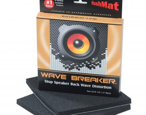 "HushMat Wave Breaker Kit - Contains 2- 8"" x 8"" ea Speaker Back Wave Deflecting Pads 82450"