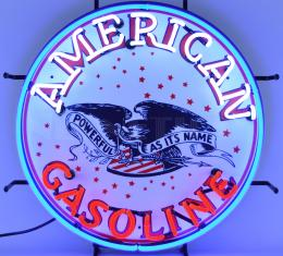 Neonetics Standard Size Neon Signs, Gas - American Gasoline Neon Sign