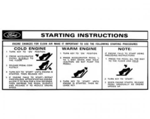 Sun Visor Starting Instructions Sleeve - Falcon
