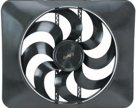 """Flex-a-Lite 15"""" Black Magic Xtreme Series Electric Fan, with Adjustable Thermostat"""