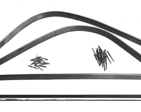 Ford Thunderbird Soft Top Rear Tack Strip Channel, 1958-1966