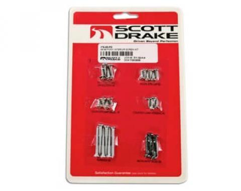 Scott Drake 64-66 PONY INTERIOR SCREW KIT ITS-65-PO