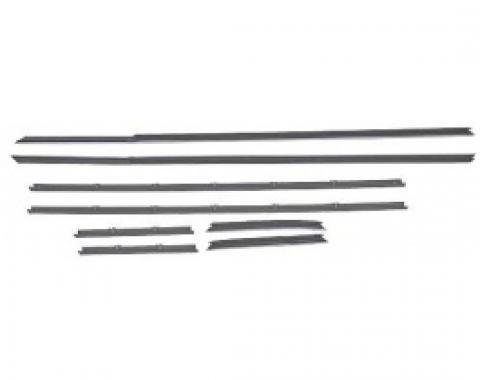 Ford Thunderbird Belt Weatherstrip Kit, 8 Pieces, Coupe Except '66 Body Styles 63C & 63D, 1964-66