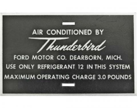 Ford Thunderbird Air Conditioner Hose Tag, Aluminum, 1961
