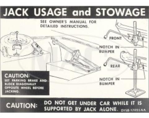 Jack Instructions, 1971 Thunderbird
