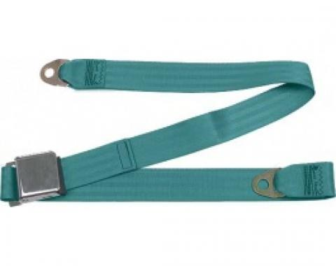 """Seatbelt Solutions Ford/Mercury, Rear Universal Lap Belt, 60"""" with Chrome Lift Latch 1800604009 