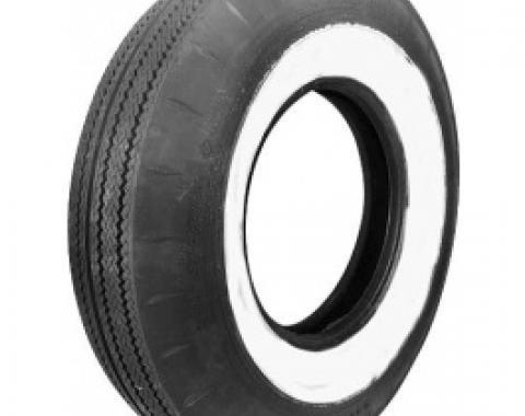 Tire, 800 X 14, 2-1/4 Whitewall, Tubeless, Goodyear Custom Super Cushion, 1958-60