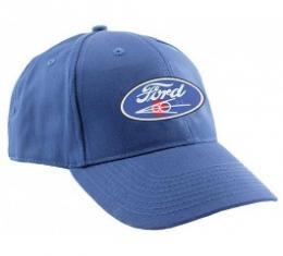 Baseball Cap, Blue, Ford Script and V8 Emblem