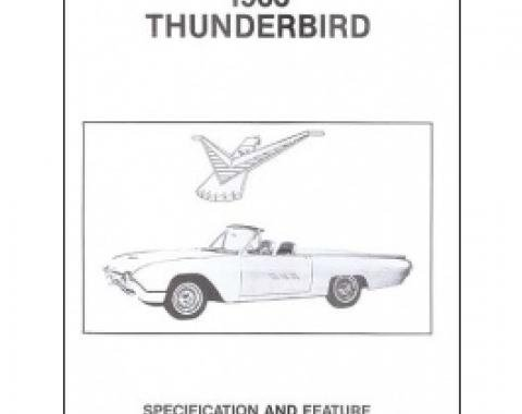 Thunderbird Facts & Features Manual, 22 Pages, 1963