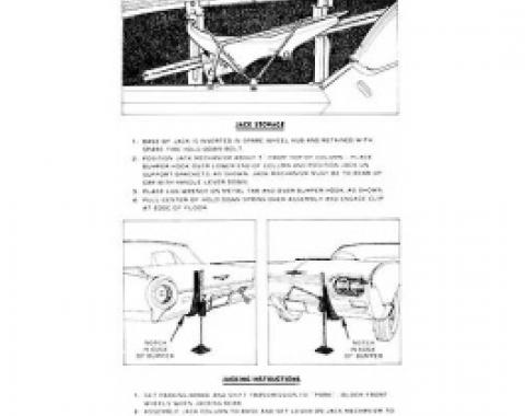 Ford Thunderbird Jack Instruction Decal, 1963