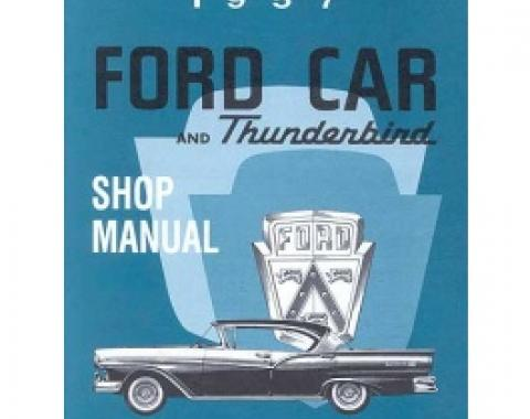 1957 Ford & Thunderbird Shop Manual, Over 500 Pages