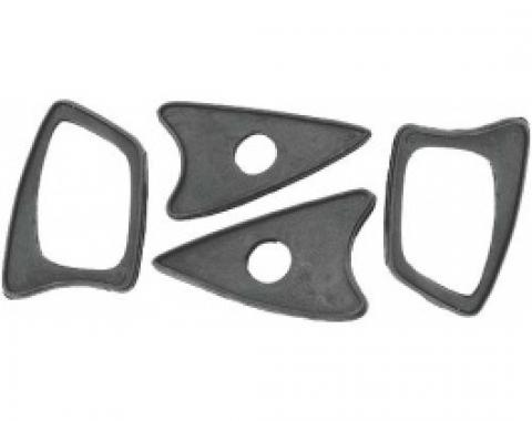 Ford Thunderbird Outside Door Handle Pad Set, 4 Pieces, Rubber, 1958-60