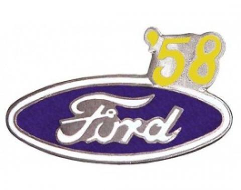 Hat Pin, Ford Oval With '58