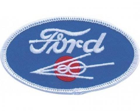 Cloth Patch, Oval Ford V8 Emblem
