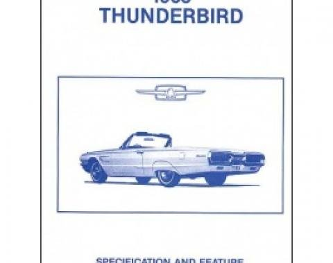 Thunderbird Facts & Features Manual, 18 Pages, 1965