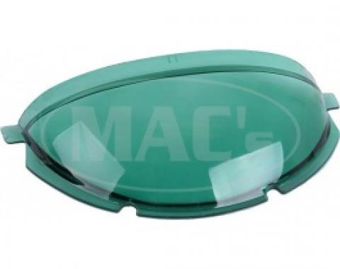 Ford Thunderbird Speedometer Dome, Green Tinted Plastic, 1955-56