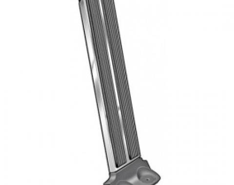 Ford Thunderbird Accelerator Pedal, Rubber, With Stainless Trim, 1965-66