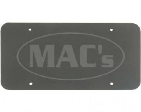 License Plate Pads, High Density Black Foam, Pair, All Years