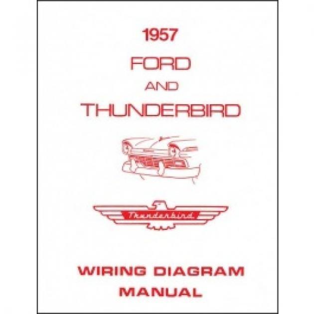 Thunderbird Wiring Diagram Manual  8 Pages  1957
