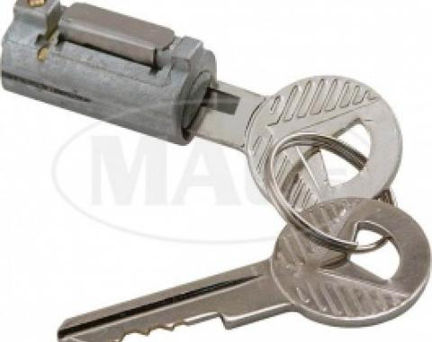 Ford Thunderbird Trunk Lock Cylinder, Includes 2 Keys, No Longer Includes The Cover, 1955-59