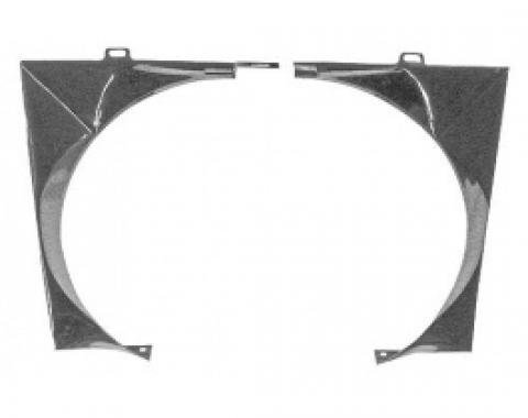 Ford Thunderbird Fan Shroud, 2 Pieces, Metal As Original, 1961-65