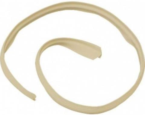 Ford Thunderbird Convertible Top Outer Front Seal, Rubber, Beige, 1961-66