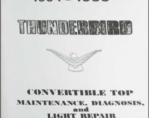 1964 1966 -66 Convertible Top Repair & Adjustment Manual, 36 Pages