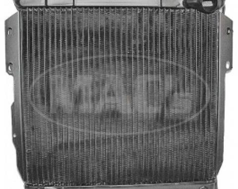 Ford Thunderbird Radiator, Heavy Duty, 4 Row, Without Trans Oil Cooler, 1955-57