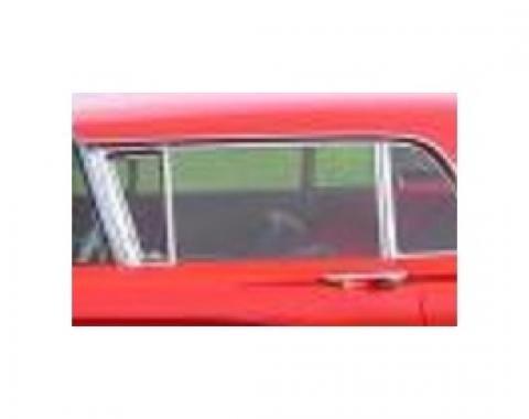 Door glass - 58-60 Ford Thunderbird - Light grey, light smoke