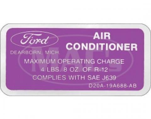 A/C Charge, 1972-1978 Thunderbird