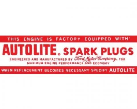 Ford Thunderbird Air Cleaner Decal, Autolite Spark Plug, 1965-66