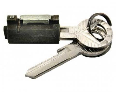 Ford Thunderbird Trunk Lock Cylinder, With 2 Repro Ford Script Keys, Keyhole Cover Is Not Included, 1955-59
