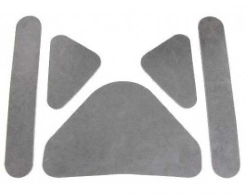 Ford Thunderbird Hood Insulation Pad Set, Die-Cut Fiberglass, 5 Pieces, 1961-63