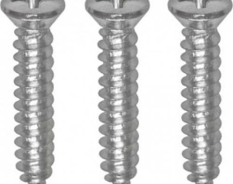 Ford Thunderbird Upper Interior Windshield Stainless Steel Moulding Screw Set, Coupe & Convertible, 1961-63