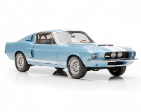 Mustang Shelby GT500 1:18 Scale Die Cast Model, 1967, Blue With White Stripes