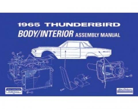 1965 Thunderbird Body And Interior Assembly Manual, 97 Pages