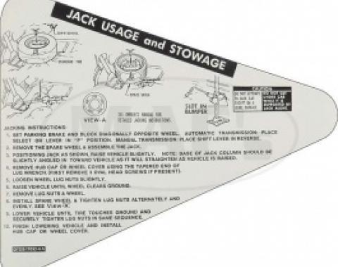 Jack Usage and Stowage, 1977 Thunderbird