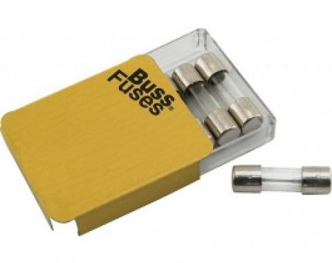 Glass Tube Fuses, SFE-9, Set Of 5 Pieces