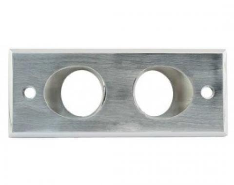 Ford Thunderbird Dome Light Assembly, Brushed Alum Housing, With 2 Ivory Plastic Lenses, 1961-63