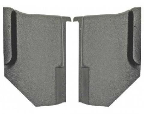 Ford Thunderbird Interior Kick Panels, Black Plastic, 1961-62