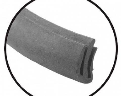 Ford Thunderbird Convertible Front Header Bow Seal, Rubber, 1958-60