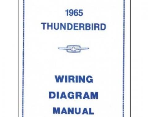 Thunderbird Wiring Diagram Manual, 16 Pages, 1965