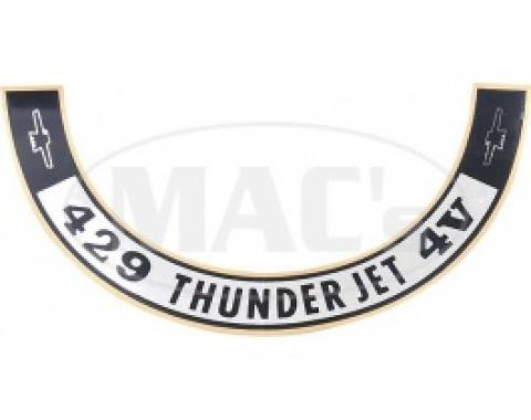 1968-1970 429 ThunderJet Air Cleaner Decal