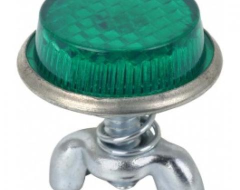 License Plate Bolts & Wing Nuts, Green Reflector, 1955-79